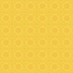 Yellow Colors Square grid Pattern design. Korean traditional Pat