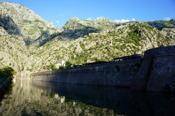 The walls of the ancient town of Kotor