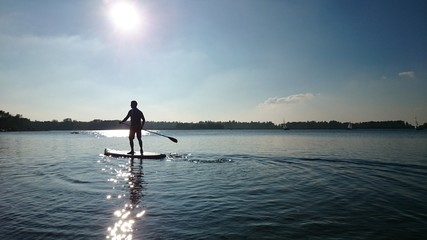 Stehpaddler see