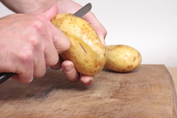 Peeling a potato