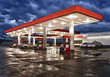 Gas Station Convenience Store On Rainy Evening - 71338314