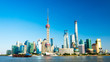 canvas print picture - Skyline von Shanghai