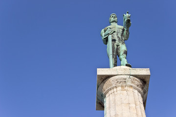 Statue of the Victor or Statue of Victory symbol of Belgrade - S