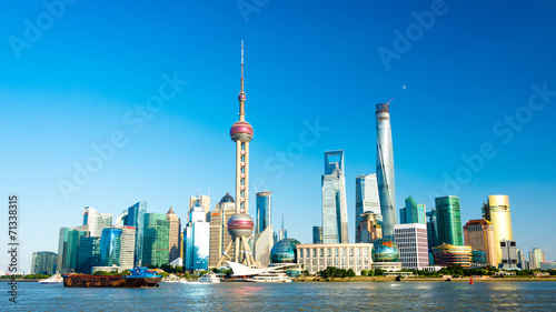 canvas print picture Skyline von Shanghai