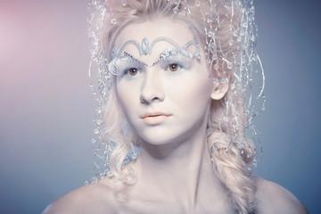 Sensual woman with winter makeup