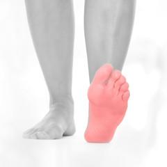 Schmerzen Fußesohle - schwarz weiß