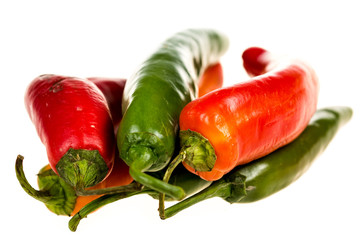Chili peppers isolated on a white background