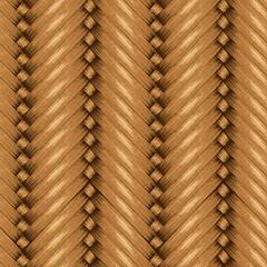 Wicker Seamless Background, Wooden Basket Textured