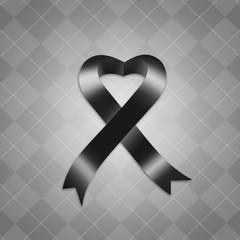 Awareness black ribbon