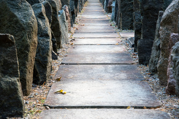 Stone passage between rocks