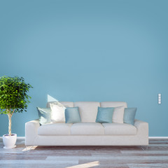 Couch und Wand