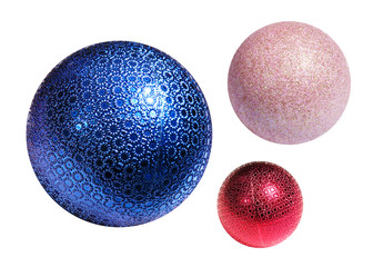 Christmas color spheres