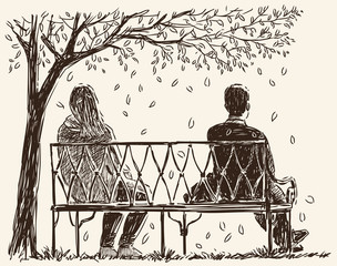 pair on the bench