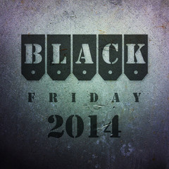 Black friday 2014 rusty dark background