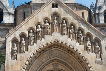 Sculptures of the church in Vajdahunjad Castle