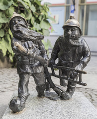 Gnomes of the fire service in Wroclaw