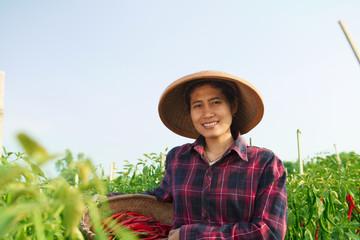 Young woman farmer