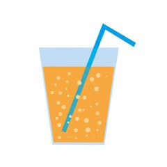 vector glass of orange soda