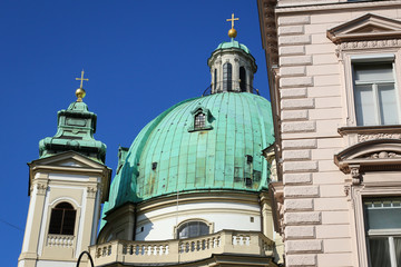 The Peterskirche (St. Peters Church) in Vienna, Austria.