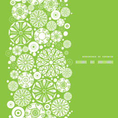 Vector abstract green and white circles vertical frame seamless