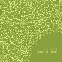 Vector abstract green natural texture frame corner pattern
