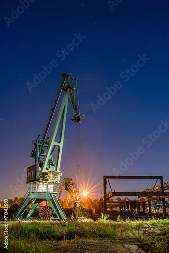 canvas print picture Crane