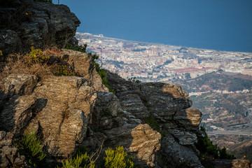 Panorama dello stretto e della città di di Messina