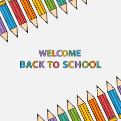 Welcome back to school  bacground with text
