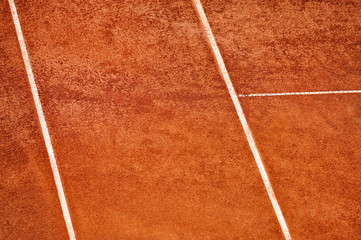 Tennis clay court viewed from above