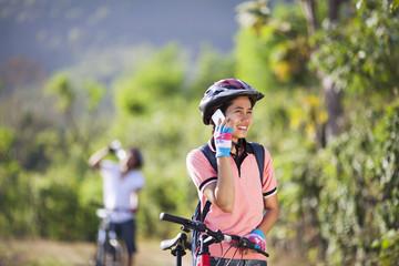 Couple cyclists