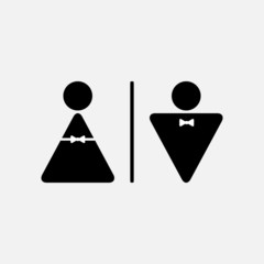 Vector  male and female WC icon