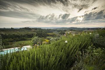 panorama della valle del Chianti - Toscana