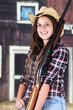 Teen Cowgirl Closeup