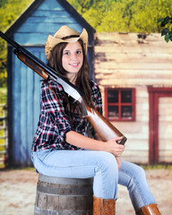 Cowgirl's God a Gun