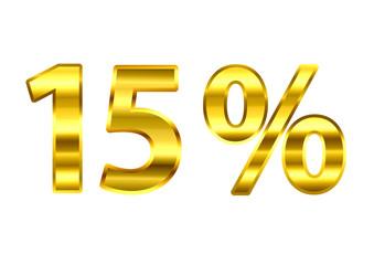 15% dourado