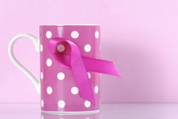 Pink Ribbon Charity for Womens Breast Cancer Awareness