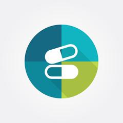 Pill and capsule symbol