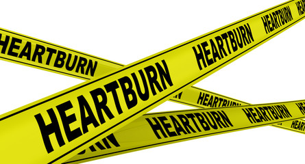 Изжога (heartburn). Желтая оградительная лента