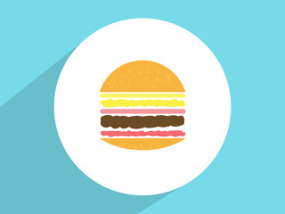 Hamburger  ,Flat design style