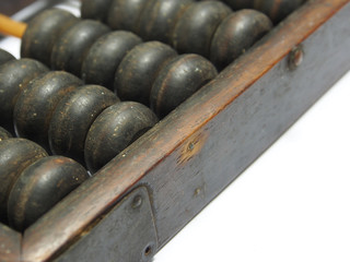 Close up of a vintage chinese abacus