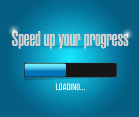 speed up your progress illustration