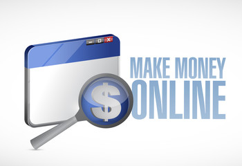 make money online browser illustration