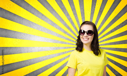 canvas print picture Positive teenager