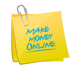 make money online memo illustration