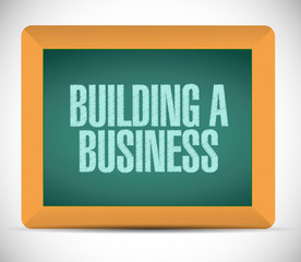 building a business sign illustration design