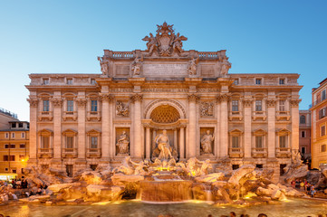 Trevi Fountain (Fontana di Trevi). Rome - Italy.