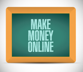 make money online sign illustration