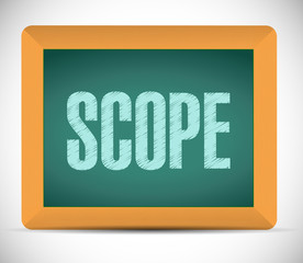 scope sign illustration design