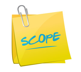 scope memo post illustration design