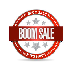 boom sale seal illustration design